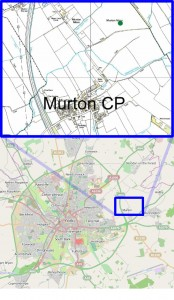 The location of site in Murton (click to enlarge)