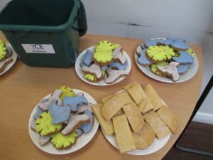 Renewable cookies, in the shapes of suns, turbines and waves.