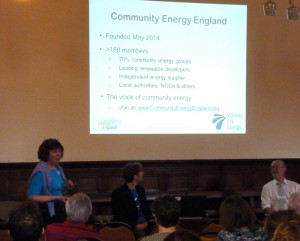 Debbie Trebilco introduced Community Energy England