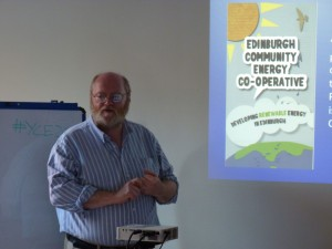 Dr Richard Dixon from Edinburgh Community Solar Co-operative
