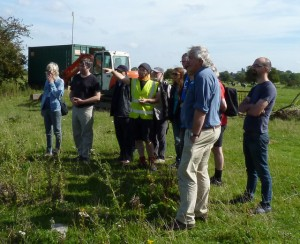 Adrian Clayton (in high vis) with YCE tour