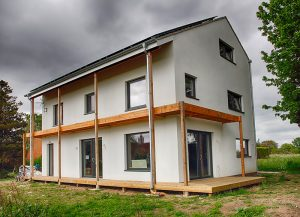 Passivhaus Plus in Fulford - it actually generates more energy than its inhabitants need (photo by L. Outing)