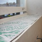 Insulated window ledge as part of a deep retrofit project near Leeds